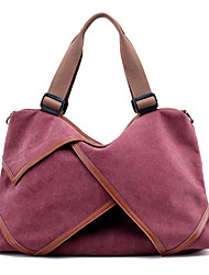cheap -Women's Bags Canvas Shoulder Bag for Casual Purple / Coffee / Brown