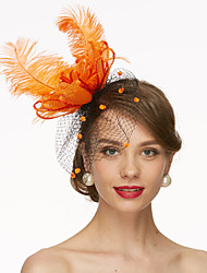 cheap -Net Fascinators / Hats / Birdcage Veils 1 Wedding / Special Occasion Headpiece