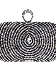 cheap -Women Bags Polyester Evening Bag Rhinestone for Wedding Event/Party Formal All Seasons Gold Black