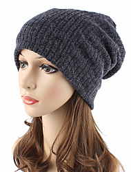 cheap -Unisex Headwear Cute Chic & Modern Knitwear Cotton Beanie / Slouchy Floppy Hat - Solid Colored Pure Color