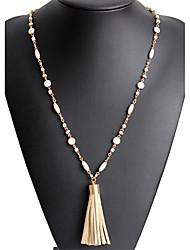 cheap -Women's Pendant Necklace  -  Unique Design Pendant British Geometric Beige Necklace For Birthday Graduation Thank You