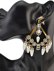 abordables -Mujer Cristal Borla Pendientes colgantes - Amigos Personalizado, Lujo, Geométrico Dorado / Plata Para Fiesta / Aniversario / Cumpleaños / De Gran Tamaño