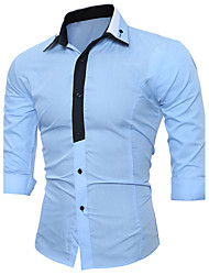 cheap -Men's Party Street chic Shirt - Color Block Luxury Fashion Stylish Mixed Color