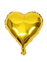 cheap -10pcs - 10inch Gold Heart Shaped Balloons Beter Gifts® DIY Party Decoration