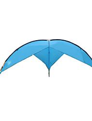 baratos -5-7 Pessoas Abrigo e Lona Encerada Tenda Barraca de acampamento Ao ar livre Tenda Dobrada Prova-de-Água Resistente Raios Ultravioleta À