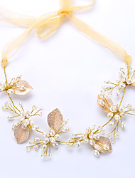 abordables -cestería imitación perla organza flores casco elegante estilo