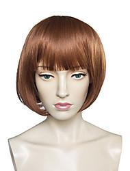 Capless Short Bob Wig Synthetic Fiber Wig Straight Women Wig
