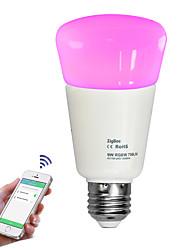 billige -JIAWEN 9W 750lm Smart LED-lampe 31 LED Perler SMD 2835 Dæmpbar APP kontrol Dekorativ Fjernstyret Varm hvid Kold hvid Naturlig hvid RGB