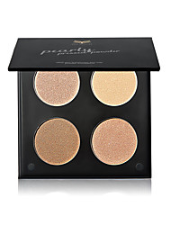 cheap -1Pcs 4Color Makeup Powder Palette Face Powder Concealer Foundation Pressed Powder Waterproof Cosmetics Makeup