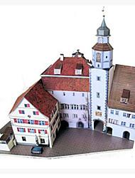 Недорогие -3D пазлы Бумажная модель Наборы для моделирования Знаменитое здание Своими руками Плотная бумага Классика Универсальные Игрушки Подарок