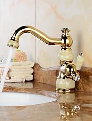 Moderne Soupape céramique 1 trou Ti-PVD , Robinet lavabo