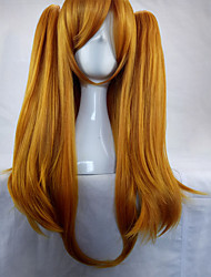 cheap -Synthetic Wig Straight With Ponytail African Braids Braided Wig Blonde Women's Capless Cosplay Wig Long Synthetic Hair
