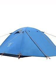 Недорогие -2 человека Световой тент На открытом воздухе Водонепроницаемость Дожденепроницаемый Быстровысыхающий Двухслойные зонты Палатка 2000-3000 mm для Отдых и Туризм Терилен Алюминий