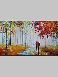 cheap -Oil Painting Hand Painted - Landscape Abstract Modern Canvas