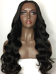 cheap -Human Hair Lace Front Wig / Glueless Lace Front Wig Body Wave 150% Density Natural Hairline / African American Wig / 100% Hand Tied Women's Short / Medium Length / Long Human Hair Lace Wig