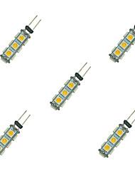 cheap -2W G4 LED Bi-pin Lights 13 leds SMD 5050 Warm White White 135lm 3000-3500/6000-6500K DC 12V