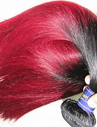 Оптовые дешевые 10a перуанские виргинские волосы прямой цвет черный бордовый 5bundles 500г много необработанных человеческих волос