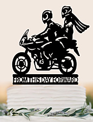 cheap -Cake Topper Birthday Wedding High Quality Plastic Wedding Birthday with 1 PVC Bag