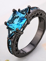 cheap -Ring Women's Euramerican Luxury Classic Blue  Imitation Diamond  Ring Daily Party  Movie Business Gift Jewelry