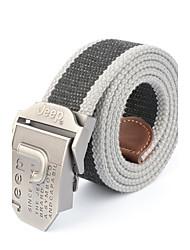baratos -Masculino Listrado Escritório/Negócio Liga Listas Cinto para a Cintura,Patchwork