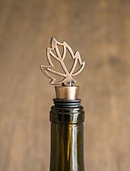 Frente de garrafa de design de folha prática - 1 peça / conjunto - rolhas de garrafa de vinho tema clássico prata não personalizada