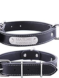 baratos -Gato Cachorro Colarinho Segurança Sólido PU Leather