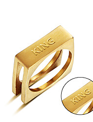 cheap -New fashion stainless steel ring foreign trade goods can be carved custom content