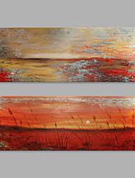 economico -Dipinta a mano Astratto Artistico Due Pannelli Tela Hang-Dipinto ad olio For Decorazioni per la casa