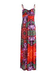 economico -Per donna Swing Vestito - Con stampe, Fantasia floreale