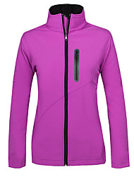 cheap -Women's Hiking Softshell Jacket Outdoor Winter Ventilation Anti-Wear Thermal / Warm Windproof Fleece Lining Wearable Top Running/Jogging