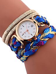 baratos -Mulheres Relógio Esportivo / Bracele Relógio Chinês Impermeável / Criativo Aço Inoxidável Banda Amuleto / Casual / Fashion Preta / Branco / Azul