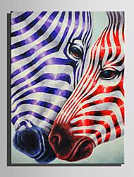 Недорогие -Ручная роспись Животные Вертикальная, Современный холст Hang-роспись маслом Украшение дома 1 панель