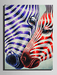 cheap -Mini Size E-HOME Oil painting Modern Zebra Love Pure Hand Draw Frameless Decorative Painting