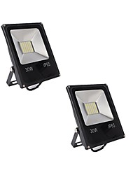 cheap -2pcs 30W LED Floodlight Waterproof Decorative Outdoor Lighting Home/Office Everyday Use Warm White Cold White DC12-80V