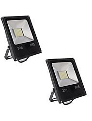 economico -2 pezzi 30W Fari LED Impermeabile Decorativo Uso quotidiano Casa/ufficio Luci per esterni Bianco caldo Luce fredda DC12-80V