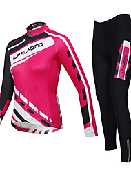 ILPALADINO Cycling Jersey with Tights Women's Unisex Long Sleeves Bike Tights Clothing Suits Waterproof Quick Dry Windproof Insulated