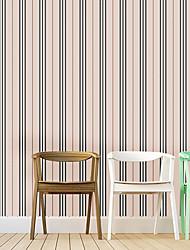abordables -A Rayas Art Decó Geométrico Fondo de pantalla Para el hogar Moderno / Contemporáneo Revestimiento de pared , PVC/Vinilo MaterialAuto