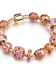 cheap -Women's Strand Bracelet Rhinestone Fashion Rose Gold Circle Oval Jewelry For Party Birthday Dailywear