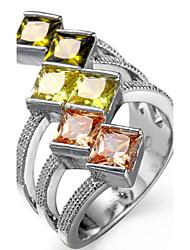Per donna Per uomo Struttura dell'anello Fedine Anello Zircone cubico StrassClassico Originale Strass Geometrico Di tendenza stile della