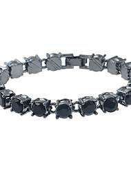 Women's Chain Bracelet Strand Bracelet Rhinestone Fashion Turkish Metal Alloy Resin Rhinestone Metallic Irregular Jewelry ForBirthday