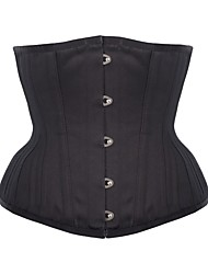 cheap -Women's Underbust Corset Plus Size NightwearRetro Sexy Push-Up Sports Solid-Medium M-3XL Black