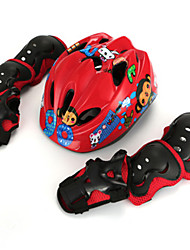 Kids' Protective Gear Set Knee Pads + Elbow Pads + Wrist Pads Skate Helmet for Skiing Cycling Skating Skateboarding Inline Skates Roller