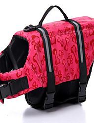 Cachorro Colete Salva-Vidas Roupas para Cães Aniversário Casual Fashion Sólido Azul Rosa claro Ocasiões Especiais Para animais de