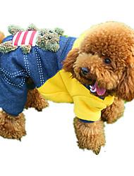 Cachorro Macacão Roupas para Cães Casual Desenho Animado Amarelo Vermelho Ocasiões Especiais Para animais de estimação