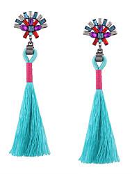 cheap -Women's Tassel / Long Drop Earrings - Rhinestone Tassel, Vintage, Bohemian Black / Red / Blue For Wedding / Anniversary / Housewarming