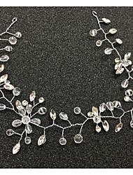 Tiras de cristal de tiaras Cabeça Cabeça Cabeça Estilo clássico feminino