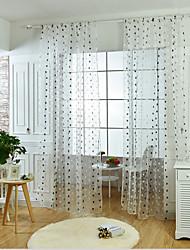 preiswerte -Schlaufen für Gardinenstange Window Treatment Rund Ländlich, Stickerei Stickerei Wohnzimmer Stoff Gardinen Shades Haus Dekoration