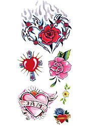Недорогие -С рисунком / Нижняя часть спины / Waterproof руки / рука / запястье Временные татуировки 1 pcs Тату с тотемом / Тату с цветами Искусство тела