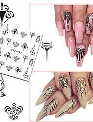 20pcs/set Hot Fashion Nail Art Water Transfer Decals Gorgeous Jewelry Necklace Lovely Cat Beautiful Flower Butterfly Design DIY  Decoration STZ497-500