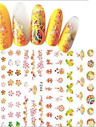 economico -1 Adesivi per manicure Fantasia Effetto 3D Adesivo Per ragazza Cosmetici e trucchi Fantasie design per manicure